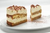 pic of whipping  - two pieces of sponge cake with whipped cream