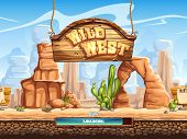 picture of wild west  - loading screen for a computer game Wild West - JPG