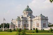 stock photo of throne  - The Ananta Samakhom Throne Hall - JPG