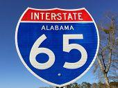 picture of alabama  - Highway sign for I - JPG