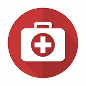 first aid red flat icon hospital red flat icon