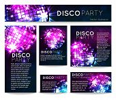 Постер, плакат: background with disco ball