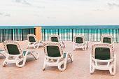 pic of sunbather  - Empty chaise - JPG