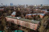 foto of tilt  - Moscow aerial tilt - JPG