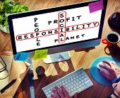 image of responsible  - Social Responsibility Reliability Dependability Ethics Concept - JPG
