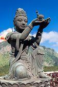 foto of metal sculpture  - Buddha statue Hong Kong - JPG