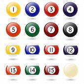 stock photo of zero  - Colored Pool Balls - JPG