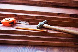 picture of lumber  - Interior wood working - JPG