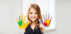 image of little school girl  - education - JPG