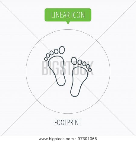 Baby footprints icon. Child feet sign.