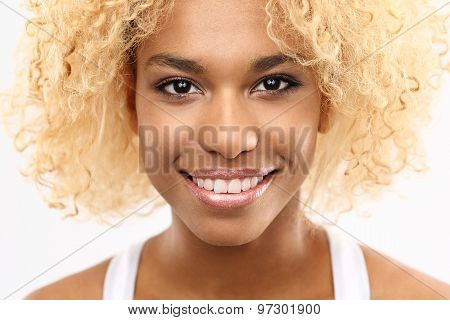 Happy mulatto woman