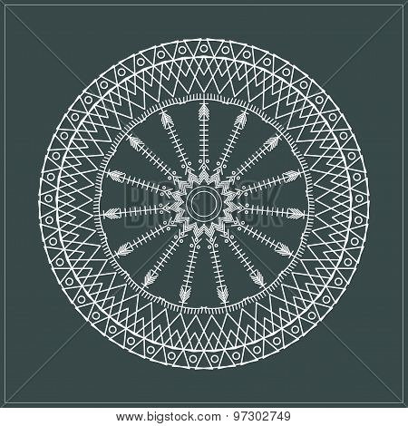 Geometric Hipster Circle 654717
