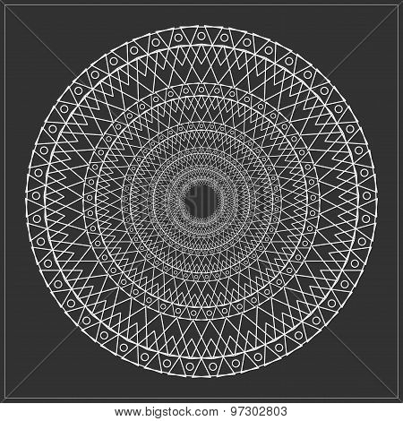 Geometric Hipster Circle 654719