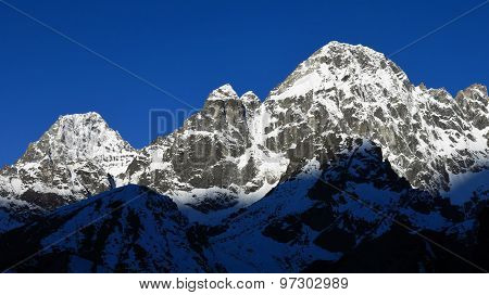 Snow Covered Peak Of Phari Lapcha