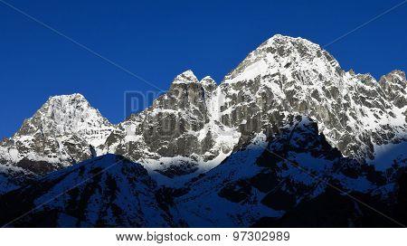 Snow Covered Peak Of Phari Lapcha
