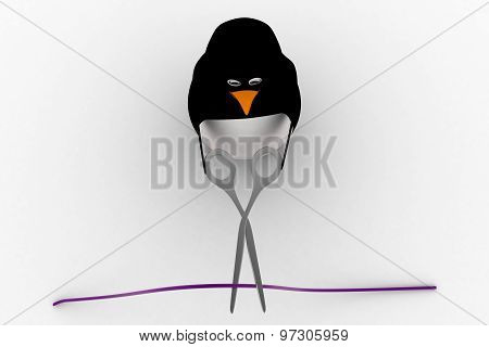 3D Penguin Cut Wire With Cisor Concept