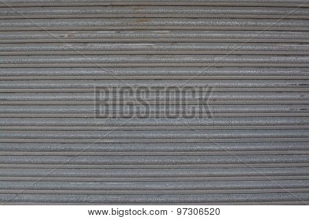 Background Texture Of Corrugated Metal Gray Iron
