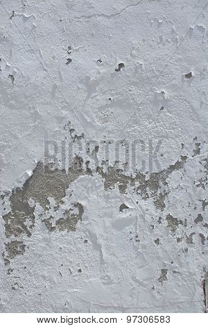 White Roughcast Stucco Wall