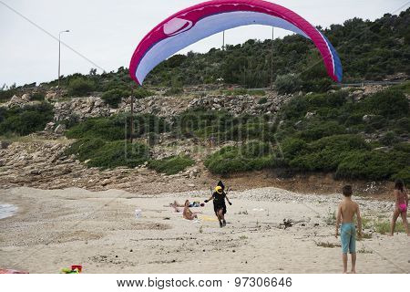 Man With Parachute