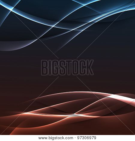 Bright Electric Modern Swoosh Line Background