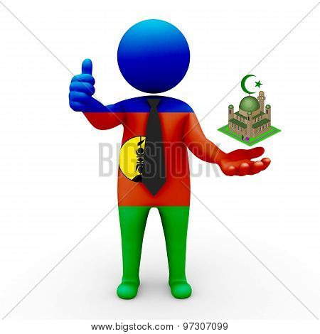 3d businessman people New Caledonia - Muslim mosque and Islam in New Caledonia