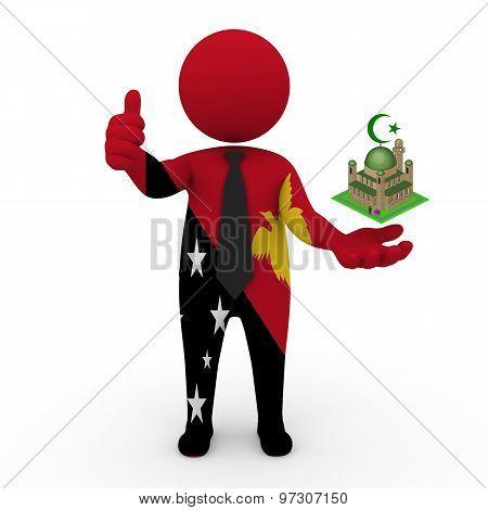 3d businessman people Papua New Guinea - Muslim mosque and Islam in Papua New Guinea