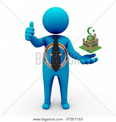 3d businessman people - Muslim mosque and Islam in Northern Mariana Islands