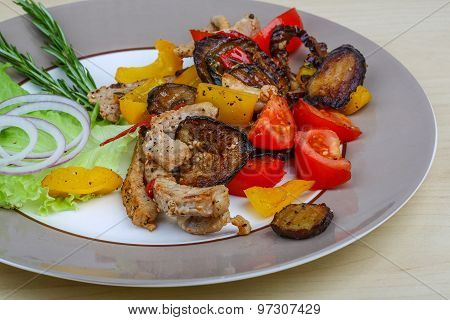 Fried Pork With Vegetables