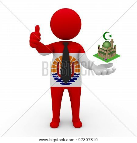 3d businessman people French Polynesia - Muslim mosque and Islam in French Polynesia
