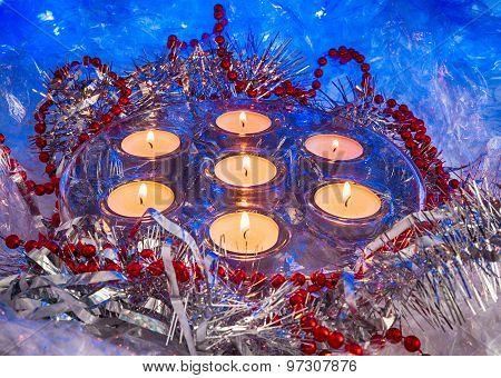 Christmas, Festive Candles, Wallpaper.
