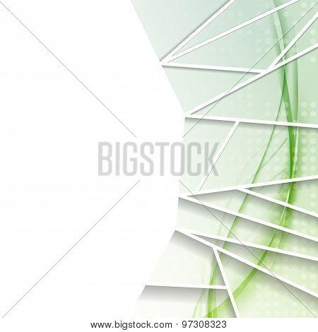 Contemporary Green Modern Folder Design Template