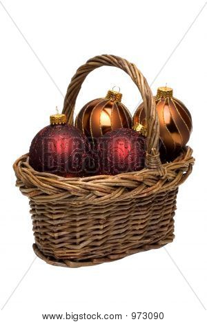 Ornaments In A Basket