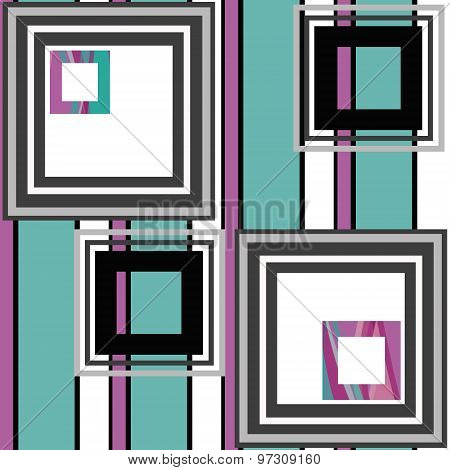 Abstract Modern Squares Seamless Pattern Texture Retro Background