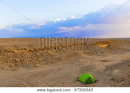 Camp In The Desert In Egypt