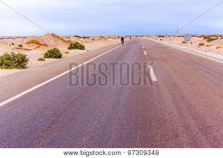 Road In The Desert In Egypt