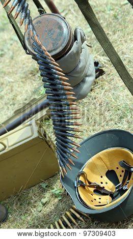Strip bullets and ammunition army oldest vintage