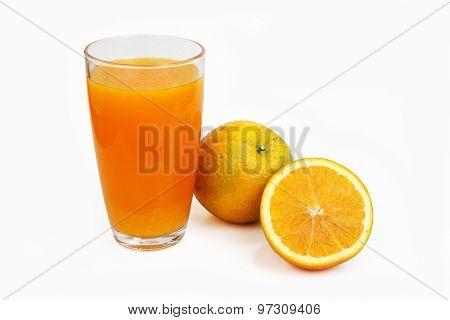 Orange Juice In Clear Glass