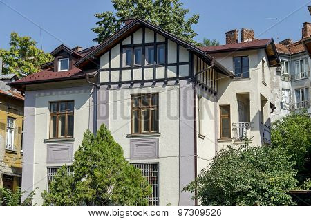 Old architecture house in Sofia city