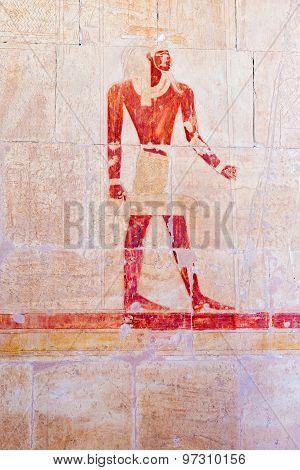 Wall Paintings In Temple Of Hatshepsut In Egypt