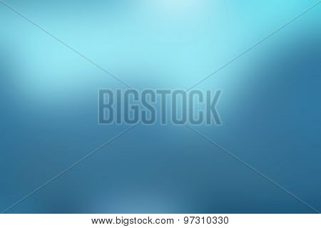 Blur Blue Abstract Background - Design For Copy Space