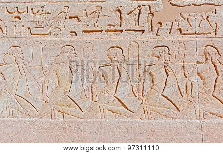 Relief At Abu Simbel Temples