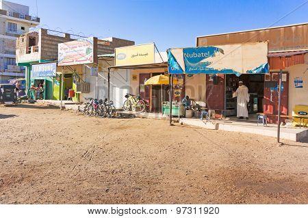 View At The Street In Wadi Halfa In Sudan.