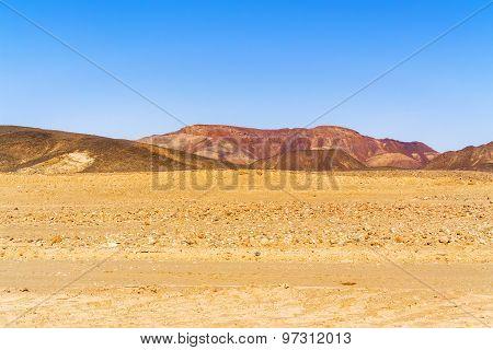 Sahara Desert Landscape In Sudan Near Wadi Halfa.