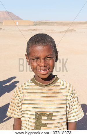 Portrait Of The Boy In Sudan