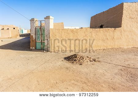 Entrance To The House In Sudanese Village
