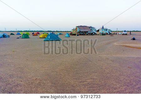 Camp On The Desert Near Dongola
