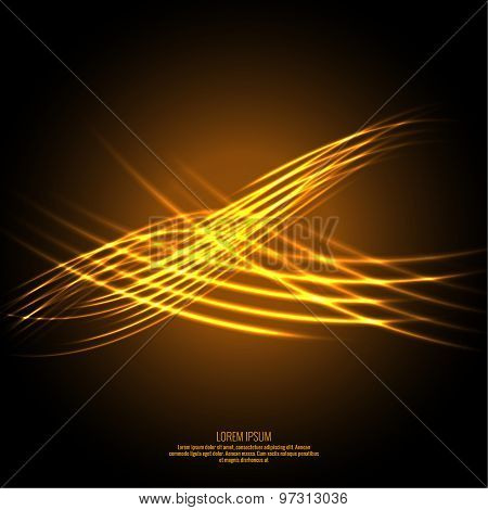 Abstract background with luminous swirling
