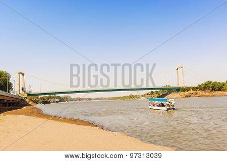 Bridge Over River Nile In Khartoum