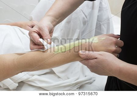 Woman in a beauty salon