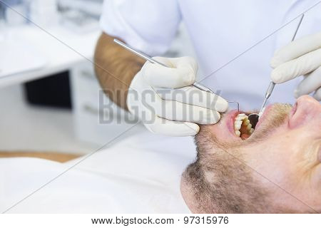 Patient In Dental Office On Regular Checkup
